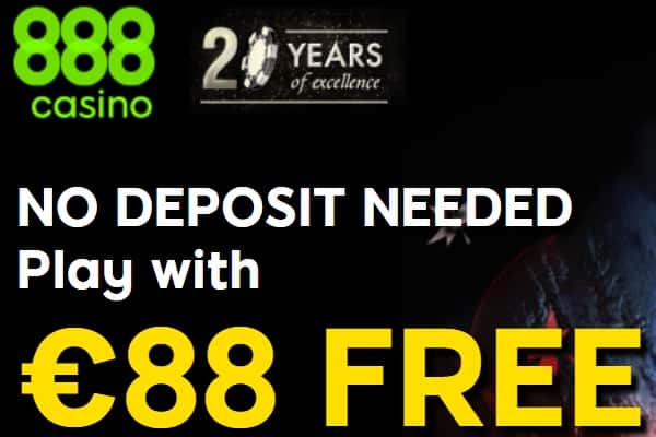 €88 No Deposit Bonus