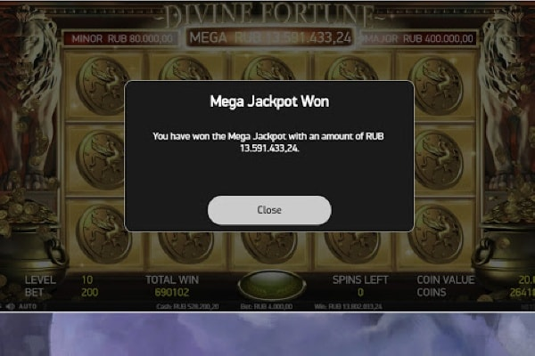 Divine Fortune Mega Jackpot Catched by Russian Streamer