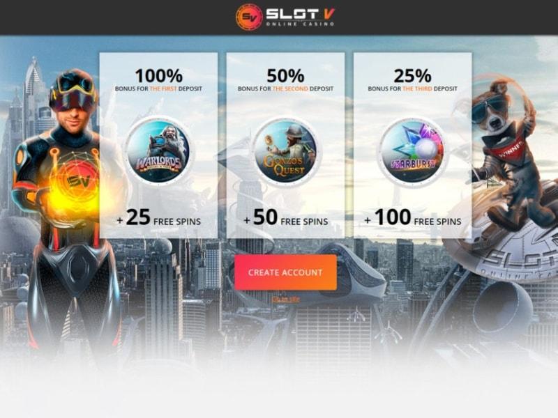 SlotV Casino Gifts Upon Registration