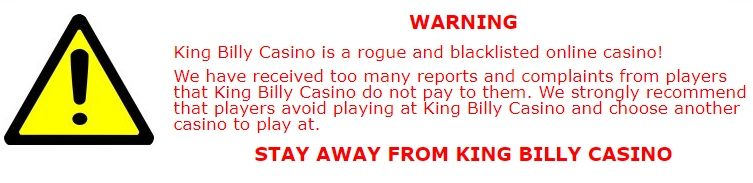 King Billy casino blacklist