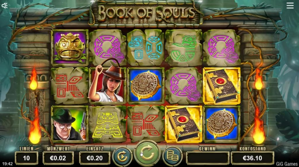 Book of Souls slot gig games